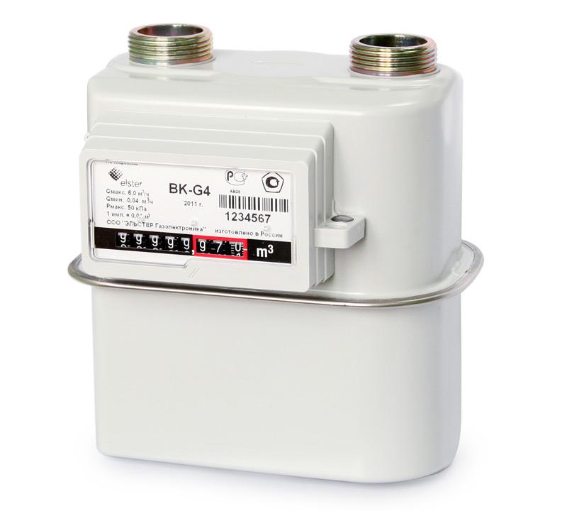 ВК G1,6; G2,5; G4 бытовые счетчики газа диафрагменные